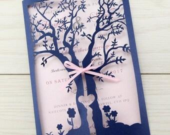 Tree wedding invite Etsy