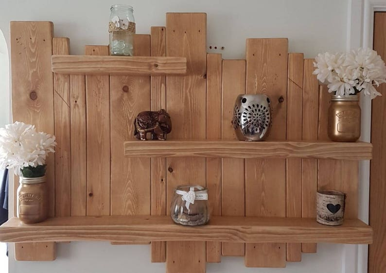 floating distressed shelves wall mounted shelf rustic etsy rh etsy com distressed wooden wall shelves