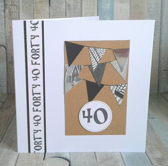 40th BIRTHDAY CARD SON Brother Card For