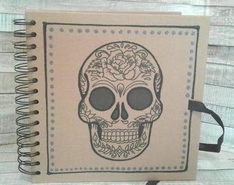 SKULL SCRAPBOOK - PHOTO album - skull book - memory book