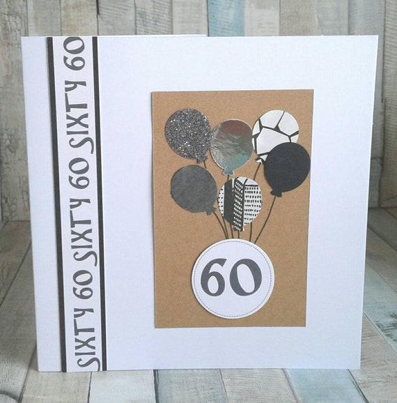 60th BIRTHDAY CARD Card For Birthday Cards Him
