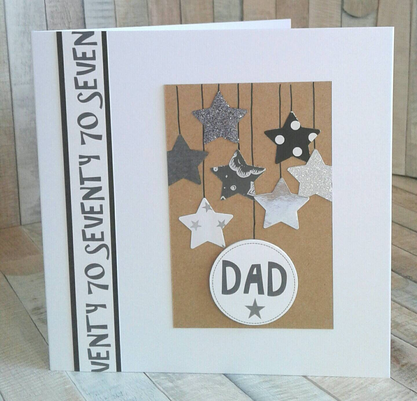 DAD 70th BIRTHDAY CARD Card For Birthday Cards Him Seventy Age Milestone Customise Personalise