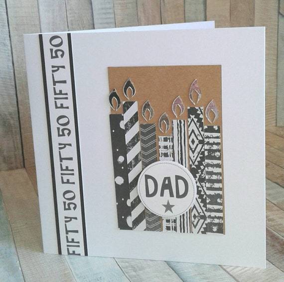 Dad 50th Birthday Card Card For 50th Birthday Cards For Him Etsy