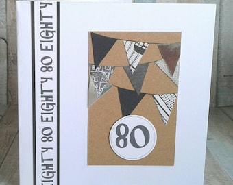 80th BIRTHDAY CARD Card For Birthday Cards Him Eighty