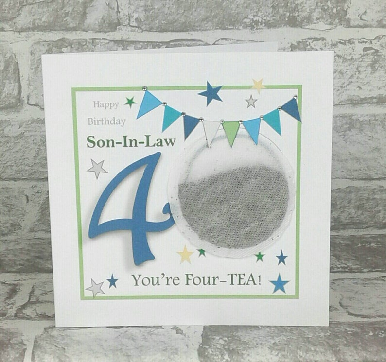 SON IN LAW 40th Birthday Card