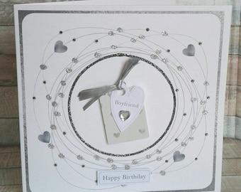 BOYFRIEND BIRTHDAY CARD - birthdat card for boyfriend -  Handmade birthday card - cards for him - boyfriend card