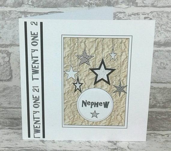 NEPHEW 21st BIRTHDAY CARD