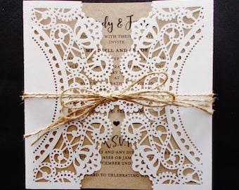Rustic Elegance Invitation SAMPLE