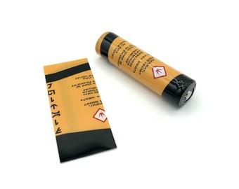 18650 Battery Heatshrink Decal