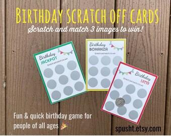 Personalized Birthday Scratch Card, Birthday Lotto, Scratch to Reveal, Scratch to Win, Birthday Lottery, Custom Birthday Scratch Off Cards