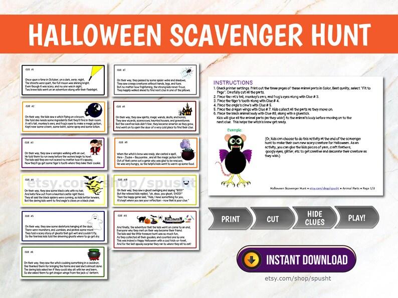 Halloween Scavenger Hunt for Kids Treasure Hunt for Kids image 0