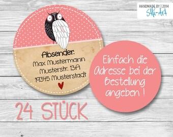 24 Address Stickers   40 mm . . . . . . . . . .