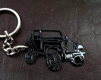 jeep keychain, fathers day gift, jeep, Jeep CJ5 keyring, car keyring, personalised keyring, Custom Keyring, birthday gift, personalized gift