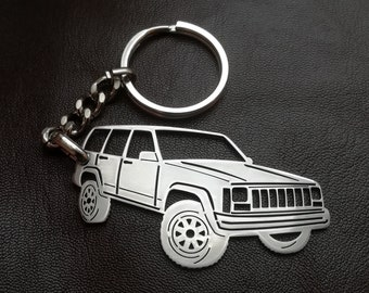 jeep keychain, fathers day gift, jeep, jeep Cherokee, car keyring, personalised keyring, Custom Keyring, birthday gift, personalized gift