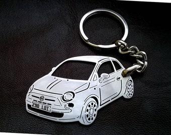 Fiat 500 Keyring Etsy