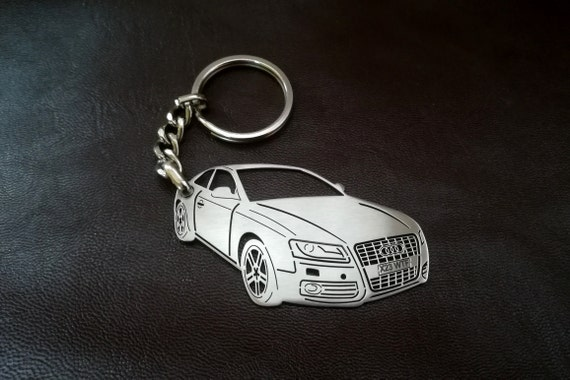 Audi Keychain Audi S V Personalised Keyring Personalized Etsy - Audi keychain
