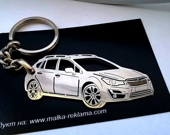 Subaru keychain, Subaru Impreza, Subaru, Key Chain for Subaru Impreza, Personalized Keychain, personalised keyring, birthday gift
