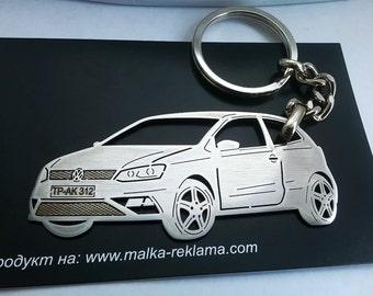 Volkswagen Keychain, Volkswagen , VW Keychain, fathers day gift, Volkswagen Polo 3 door, Personalized Keyring, Custom Keyring, birthday gift