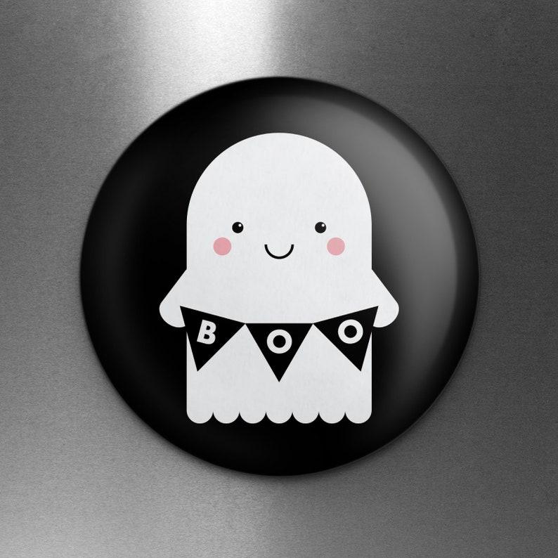 1.25 Diameter Cute Ghost Magnet Kawaii Cute Halloween Ghost Magnet