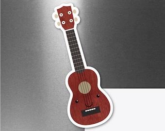 Cute Ukulele Magnet, Weatherproof Car Refrigerator Fridge Locker Magnet, Small Gift for Music Teacher, Ukulele Student Gift