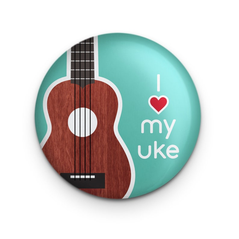 Ukulele Button Pin Accessory Ukulele Uke Music Teacher Gift image 0