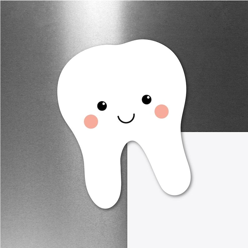 Cute Tooth Magnet Car Refrigerator Fridge Locker Magnet Die image 0