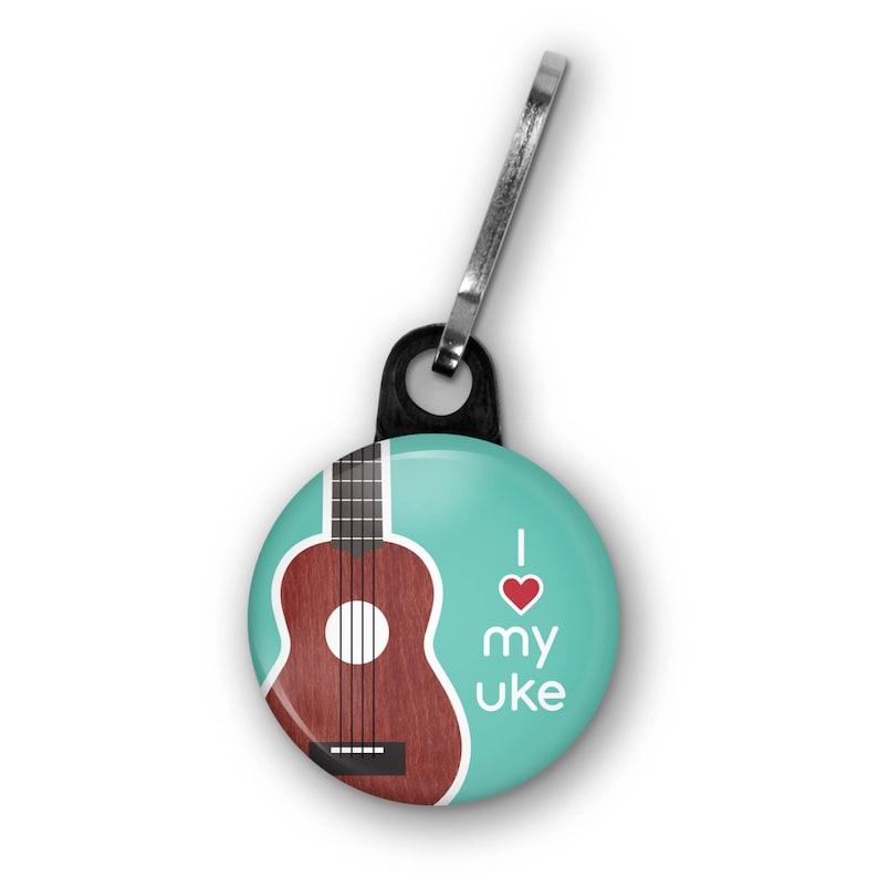 Ukulele Zipper Pull Charm Accessory Ukulele Uke Music Teacher image 0