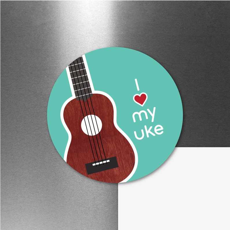 Ukulele Magnet Ukulele Uke Music Teacher Gift Car image 0