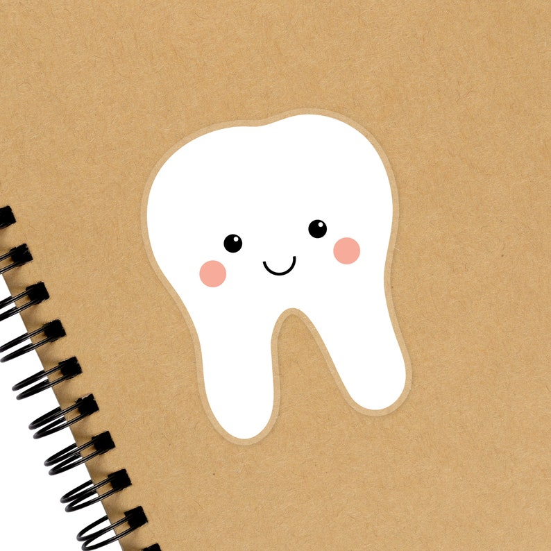 Cute Tooth Sticker Small Gift for Dental Hygienist Assistant image 0