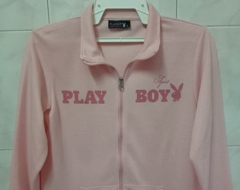 PLAYBOY spell out streetwear pink sweater