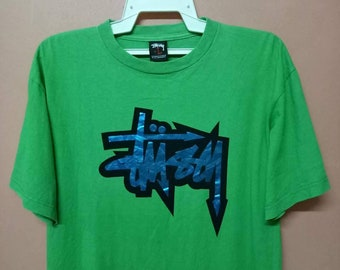 STUSSY Big Logo spell out streetwear Large size rare tee shirt