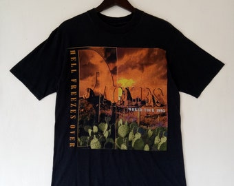 VINTAGE 90s EAGLES Hell Freezes Over 1994 American classic rock band Promo  Tour Concert XL size by Giant shirt cb141b983b61