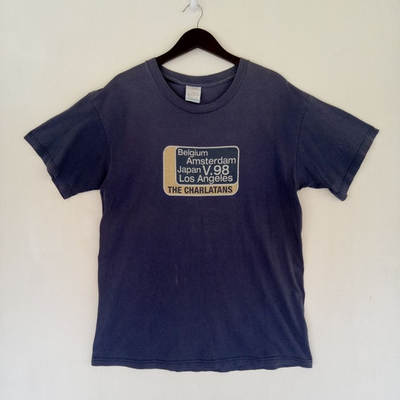 VINTAGE 90s THE CHARLATANS promo tour concert usa belgium japan indie rock britpop rare 90s Tee shirt