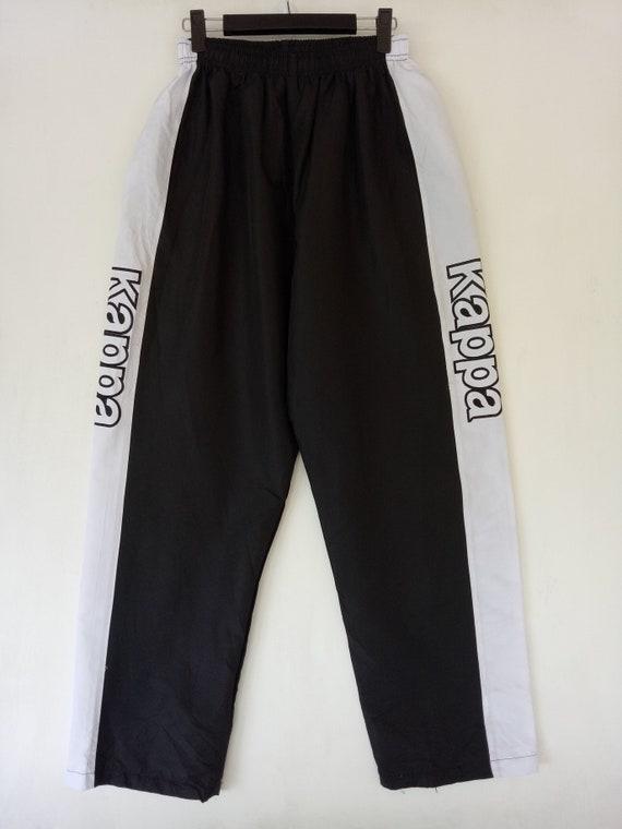 VINTAGE KAPPA sweatpants sports track big logo rare embroidered streetwear jogging athletic black pants
