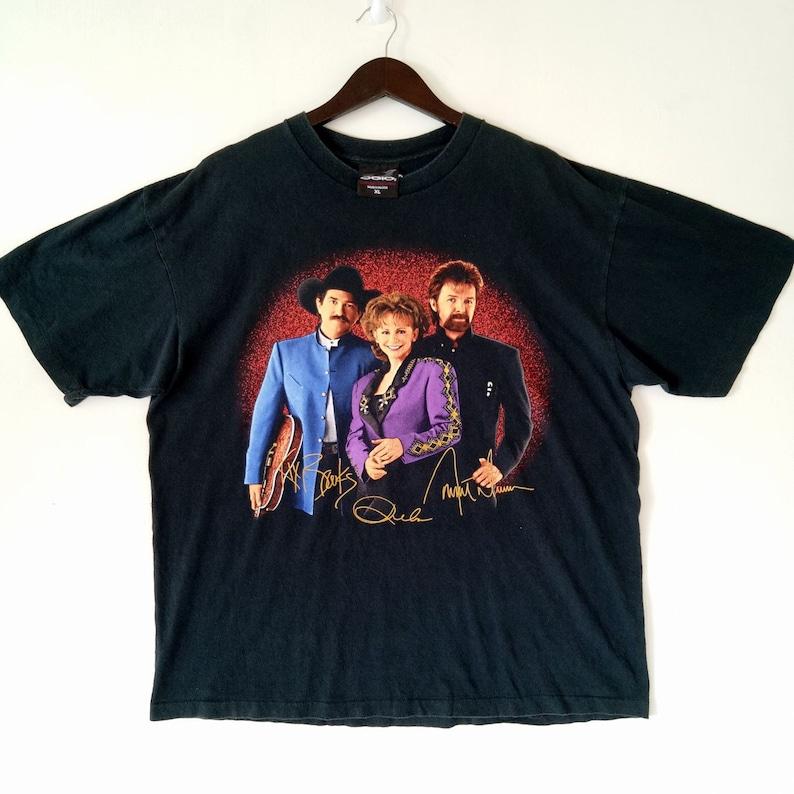 22fa79e30 Vintage REBA / BROOKS DUNN American country music duo rare Tour Promo  Concert tee t-shirt