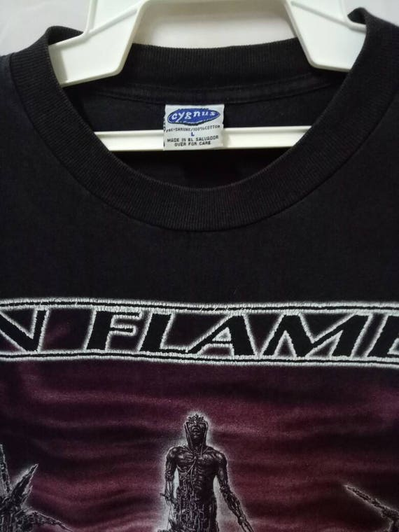 tour Swedish shirt 1999 VINTAGE band FLAMES tee melodic design IN death rare metal t promo 90s twxZqfwgFv