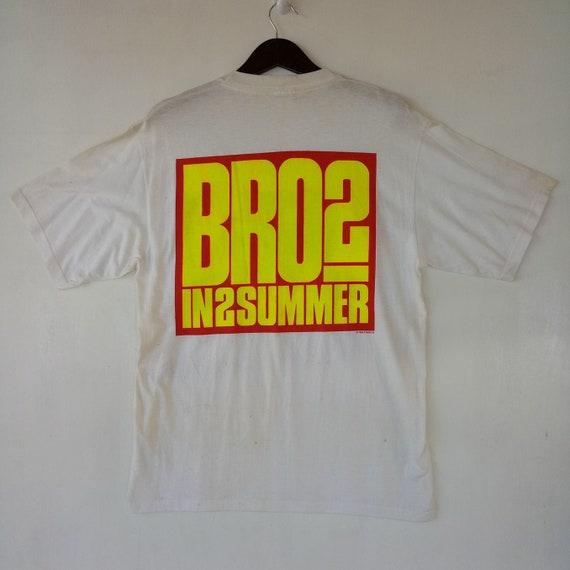 amp; Tour rare In 80s BROS VINTAGE tee Goss shirt Stadium 80s 2 band Programme Luke Rare Wembley 1989 Summer Matt fq7q8W
