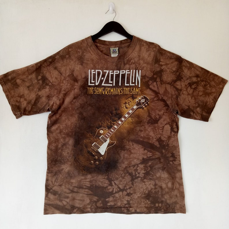 VINTAGE 90s LED ZEPPELIN rare original tie dye promo Uk grunge jimmy page  robert plant / the song remains the same tee t-shirt
