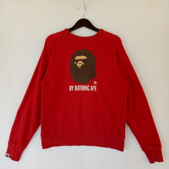 size and Japan Bathing rare Reversible Small Generals Ape in colour works made red sweater gray sweatshirt super busy BAPE dFZqYxOq