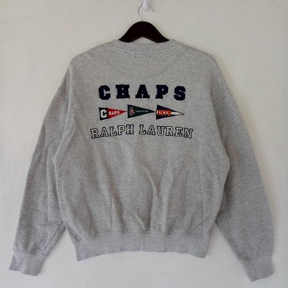 d4ca94c4c40 VINTAGE CHAPS by Ralph Lauren RL sweatshirt   cross flag