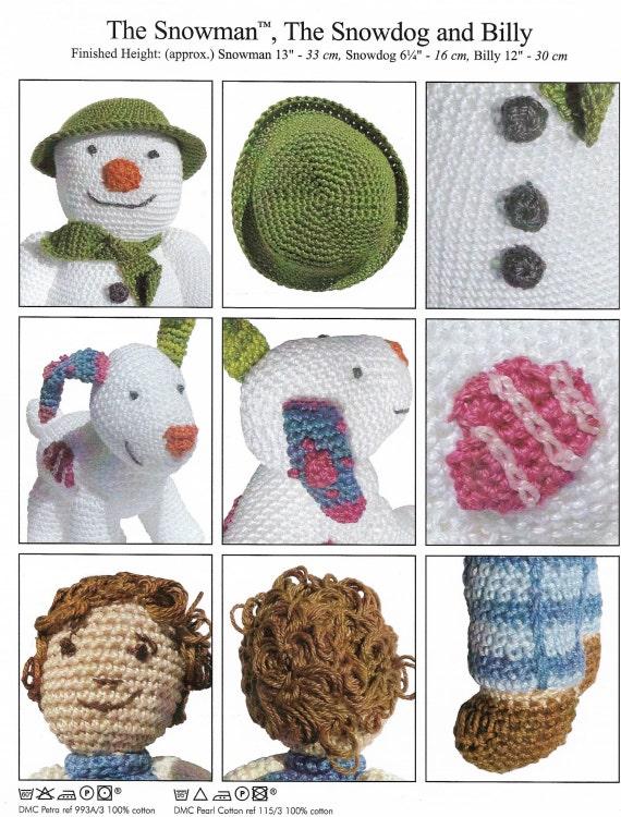 El muñeco de nieve Snowdog y Billy Crochet patrón único hilo   Etsy