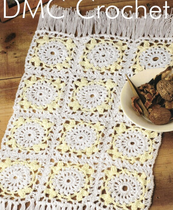 Crochet Vintage Style Placemat Pattern Only Petra Cotton Yarn Etsy