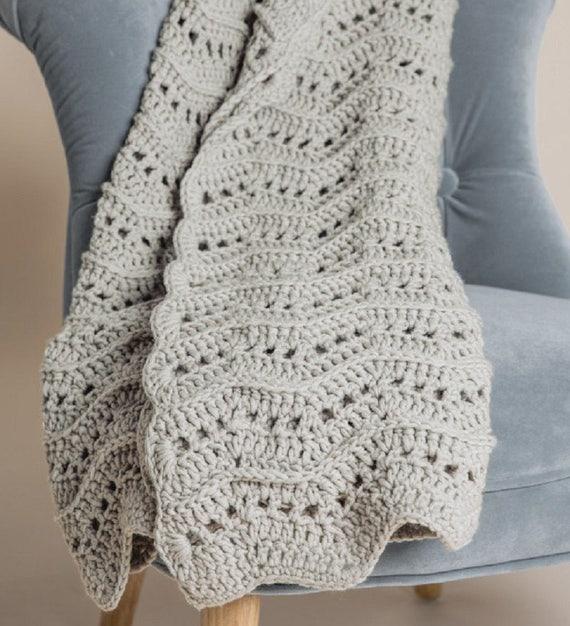 Warm und wellig werfen Decke häkeln Muster nur Woolly5 Garn | Etsy