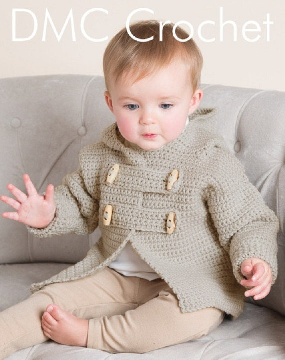 Teddy Toggle baby Jacke Häkelmuster nur Woolly5 Garn