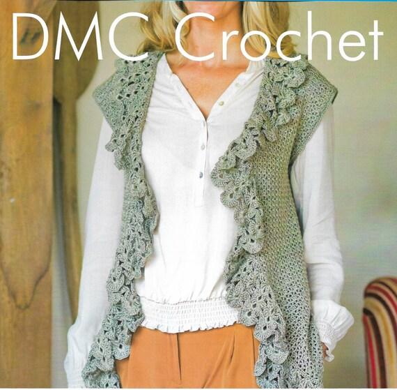 Crochet Waterfall Front Waistcoat Pattern Only Petra Cotton Etsy