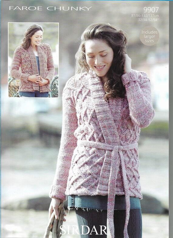 Womans Cardigan Knitting Pattern Only In Dk Yarn Etsy