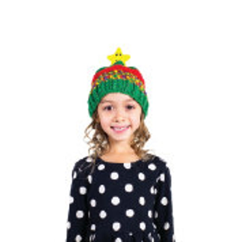 325776ef0 DMC Top This STAR Hat Knitting Kit with a Yarn and Character Pom Pom