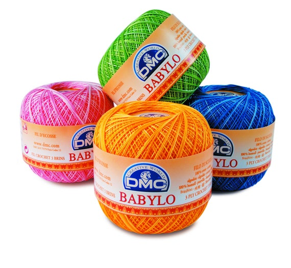 Size 30 Colour Multi-Green Colour No 114 DMC Babylo Crochet Cotton Thread 50g