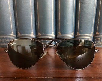 081af3ae3351 Vintage Ray Ban Aviators from 1990 s - Black lenses