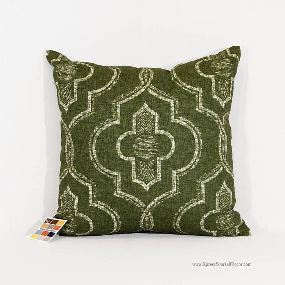 Juniper Green Pillow Cover In Newport Pattern With Zipper Etsy Gorgeous Newport Pillow Covers